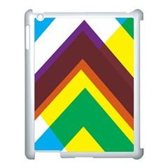 Triangle Chevron Rainbow Web Geeks Apple Ipad 3/4 Case (white) by Mariart