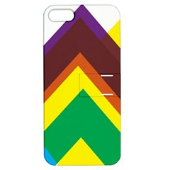 Triangle Chevron Rainbow Web Geeks Apple Iphone 5 Hardshell Case With Stand by Mariart
