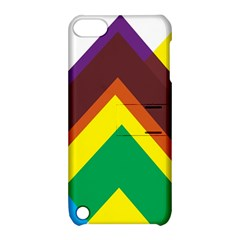 Triangle Chevron Rainbow Web Geeks Apple Ipod Touch 5 Hardshell Case With Stand by Mariart