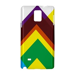 Triangle Chevron Rainbow Web Geeks Samsung Galaxy Note 4 Hardshell Case by Mariart