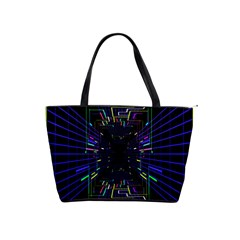 Seamless 3d Animation Digital Futuristic Tunnel Path Color Changing Geometric Electrical Line Zoomin Shoulder Handbags by Mariart