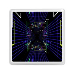 Seamless 3d Animation Digital Futuristic Tunnel Path Color Changing Geometric Electrical Line Zoomin Memory Card Reader (square)  by Mariart
