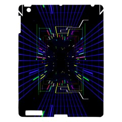 Seamless 3d Animation Digital Futuristic Tunnel Path Color Changing Geometric Electrical Line Zoomin Apple Ipad 3/4 Hardshell Case by Mariart
