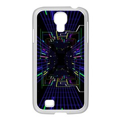 Seamless 3d Animation Digital Futuristic Tunnel Path Color Changing Geometric Electrical Line Zoomin Samsung Galaxy S4 I9500/ I9505 Case (white)