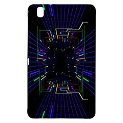 Seamless 3d Animation Digital Futuristic Tunnel Path Color Changing Geometric Electrical Line Zoomin Samsung Galaxy Tab Pro 8 4 Hardshell Case by Mariart