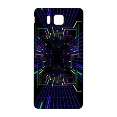 Seamless 3d Animation Digital Futuristic Tunnel Path Color Changing Geometric Electrical Line Zoomin Samsung Galaxy Alpha Hardshell Back Case by Mariart