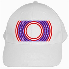 Stars Stripes Circle Red Blue Space Round White Cap by Mariart