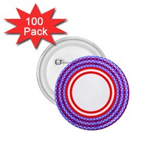 Stars Stripes Circle Red Blue Space Round 1 75  Buttons (100 Pack)  by Mariart