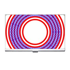 Stars Stripes Circle Red Blue Space Round Business Card Holders by Mariart