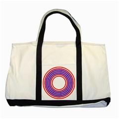 Stars Stripes Circle Red Blue Space Round Two Tone Tote Bag by Mariart
