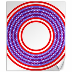 Stars Stripes Circle Red Blue Space Round Canvas 20  X 24   by Mariart