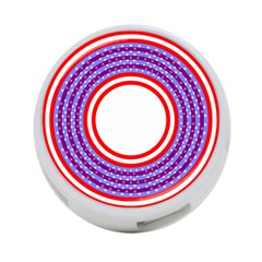 Stars Stripes Circle Red Blue Space Round 4 Port Usb Hub (two Sides)  by Mariart