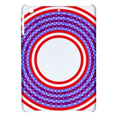 Stars Stripes Circle Red Blue Space Round Apple Ipad Mini Hardshell Case by Mariart