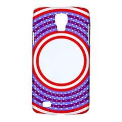 Stars Stripes Circle Red Blue Space Round Galaxy S4 Active by Mariart