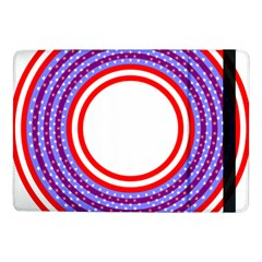 Stars Stripes Circle Red Blue Space Round Samsung Galaxy Tab Pro 10 1  Flip Case by Mariart