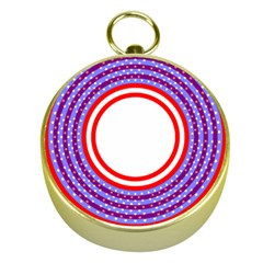 Stars Stripes Circle Red Blue Space Round Gold Compasses by Mariart