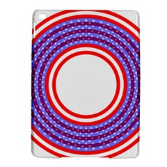 Stars Stripes Circle Red Blue Space Round Ipad Air 2 Hardshell Cases by Mariart