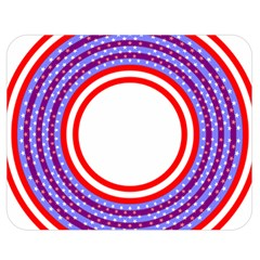 Stars Stripes Circle Red Blue Space Round Double Sided Flano Blanket (medium)  by Mariart
