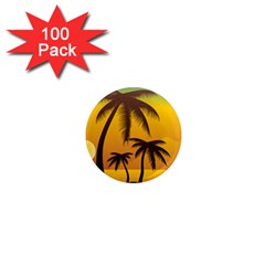 Sunset Summer 1  Mini Magnets (100 Pack)  by Mariart
