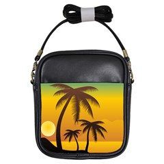 Sunset Summer Girls Sling Bags by Mariart