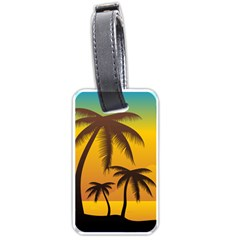 Sunset Summer Luggage Tags (one Side)  by Mariart