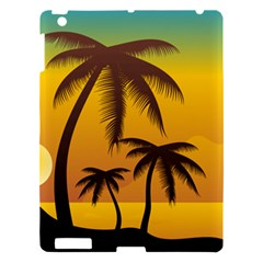 Sunset Summer Apple Ipad 3/4 Hardshell Case by Mariart
