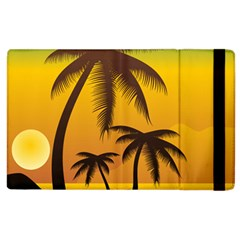 Sunset Summer Apple Ipad 2 Flip Case by Mariart