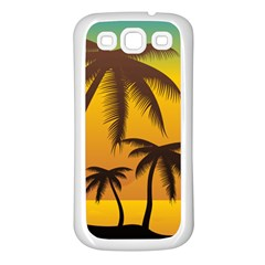 Sunset Summer Samsung Galaxy S3 Back Case (white) by Mariart