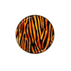 Skin4 Black Marble & Fire (r) Hat Clip Ball Marker (10 Pack) by trendistuff