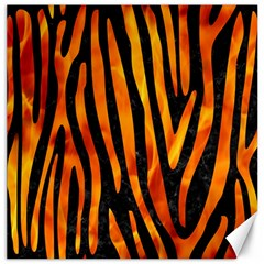 Skin4 Black Marble & Fire (r) Canvas 12  X 12   by trendistuff