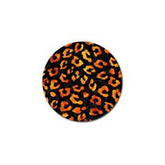 Skin5 Black Marble & Fire (r) Golf Ball Marker (4 Pack) by trendistuff