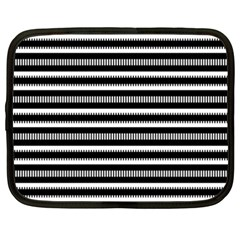 Tribal Stripes Black White Netbook Case (xxl)  by Mariart