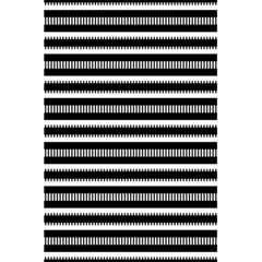 Tribal Stripes Black White 5 5  X 8 5  Notebooks by Mariart