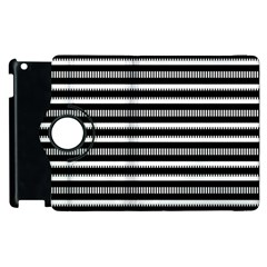 Tribal Stripes Black White Apple Ipad 2 Flip 360 Case by Mariart
