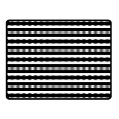 Tribal Stripes Black White Double Sided Fleece Blanket (small)  by Mariart