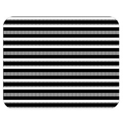 Tribal Stripes Black White Double Sided Flano Blanket (medium)  by Mariart