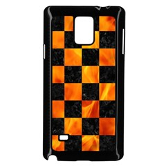 Square1 Black Marble & Fire Samsung Galaxy Note 4 Case (black) by trendistuff