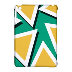 Triangles Texture Shape Art Green Yellow Apple Ipad Mini Hardshell Case (compatible With Smart Cover) by Mariart