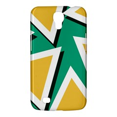 Triangles Texture Shape Art Green Yellow Samsung Galaxy Mega 6 3  I9200 Hardshell Case by Mariart
