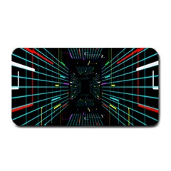 Seamless 3d Animation Digital Futuristic Tunnel Path Color Changing Geometric Electrical Line Zoomin Medium Bar Mats by Mariart