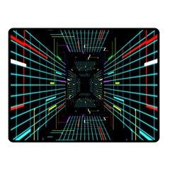 Seamless 3d Animation Digital Futuristic Tunnel Path Color Changing Geometric Electrical Line Zoomin Fleece Blanket (small) by Mariart