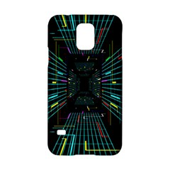 Seamless 3d Animation Digital Futuristic Tunnel Path Color Changing Geometric Electrical Line Zoomin Samsung Galaxy S5 Hardshell Case  by Mariart