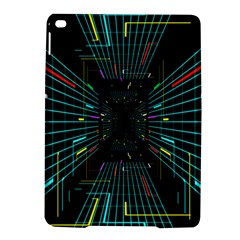 Seamless 3d Animation Digital Futuristic Tunnel Path Color Changing Geometric Electrical Line Zoomin Ipad Air 2 Hardshell Cases by Mariart