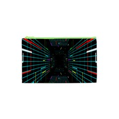 Seamless 3d Animation Digital Futuristic Tunnel Path Color Changing Geometric Electrical Line Zoomin Cosmetic Bag (xs) by Mariart