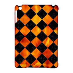 Square2 Black Marble & Fire Apple Ipad Mini Hardshell Case (compatible With Smart Cover) by trendistuff