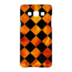 Square2 Black Marble & Fire Samsung Galaxy A5 Hardshell Case  by trendistuff