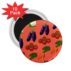 Vegetable Carrot Tomato Pumpkin Eggplant 2 25  Magnets (10 Pack)  by Mariart