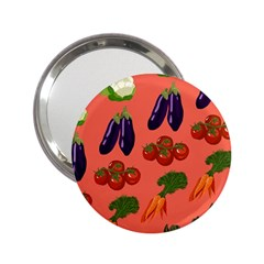 Vegetable Carrot Tomato Pumpkin Eggplant 2 25  Handbag Mirrors by Mariart