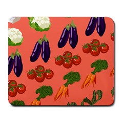 Vegetable Carrot Tomato Pumpkin Eggplant Large Mousepads by Mariart