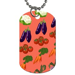 Vegetable Carrot Tomato Pumpkin Eggplant Dog Tag (one Side) by Mariart